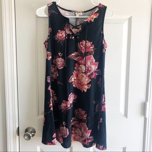 NWT About a Girl Floral Print Dress